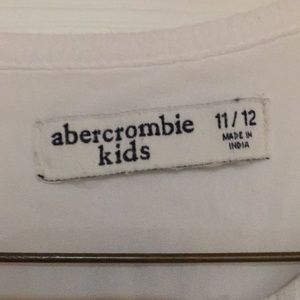 abercrombie kids Shirts & Tops - Girls White Blouse With Blue Design